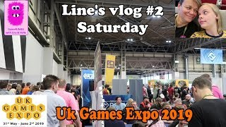 Uk Games Expo 2019, Line's Vlog #2 . Day 2 - Saturday #boardgames #ukge2019