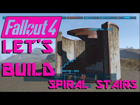 Fallout 4: Concrete Spiral Stairs How-To! Let's Build ep 5