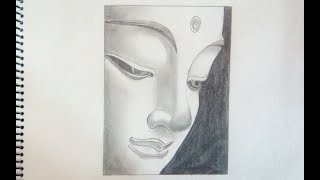 Drawing the Face of Gautam Buddha (Time Lapse)