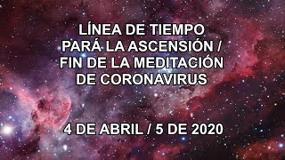 LÍNEA DE TIEMPO PARÁ LA ASCENSIÓN/FIN DE LA MEDITACIÓN DE CORONAVIRUS 4 DE ABRIL/5 DE 202 - Spanish