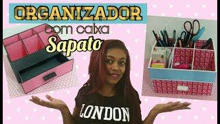 Organizador com caixa de sapato / Vivi Andrade