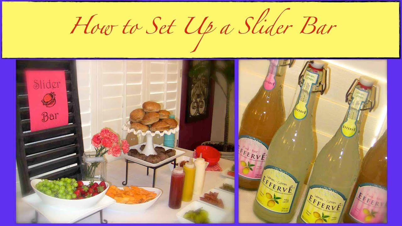Primp my event how to set up a simple sliders bar food for Bash bash food bar vodice