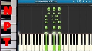 My Chemical Romance - Fake Your Death Piano Tutorial - How to play - Synthesia