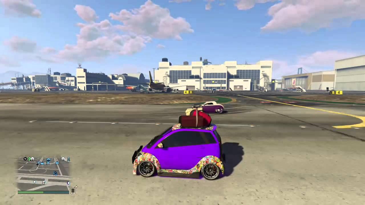 Grand Theft Auto V: Drag Race   Smart Car / Rat Rod / Lamborghini Aventador