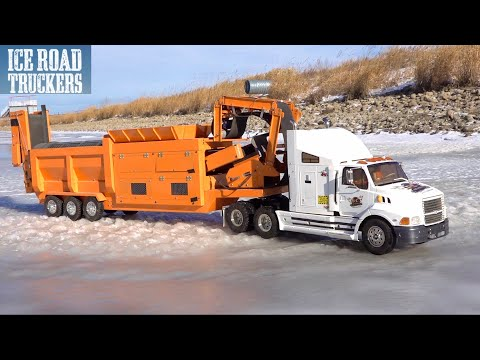 ICE ROAD TRUCKER - IT'S NOT EASY PULLING A HEAVY LOAD - Even At 1/14th Scale | RC ADVENTURES