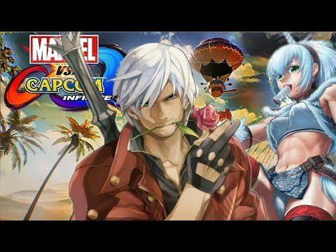 Marvel Vs Capcom: Infinite Dante and Monster Hunter Character Dialogue and End Battle Quotes