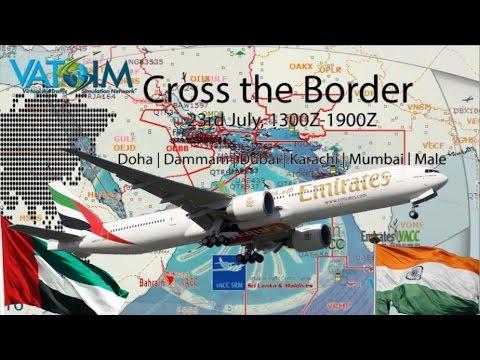 PMDG 777 flies Vatsim Cross the Border event OMDB - VABB