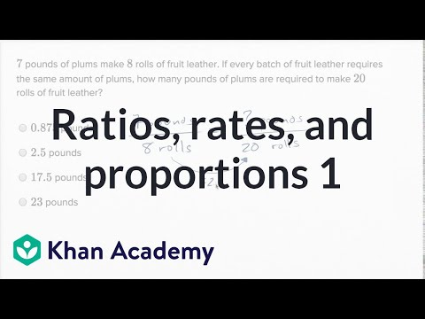 Ratios, Rates, And Proportions — Basic Example | Math | New SAT | Khan Academy