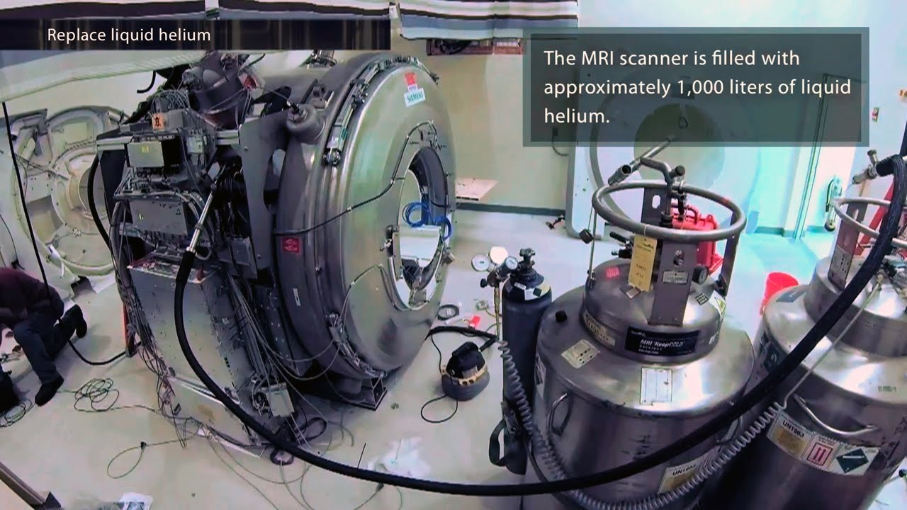 A screenshot from MRI Installation Timelapse - Two Weeks in 4 minutes