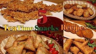 5 Easy & Quick Snacks recipes/Quick evening snacks recipes/tea time Snacks Recipes