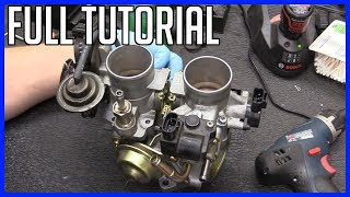 How to Service Throttle Body Housing and Plates Toyota Highlander V6 3.0 2001-2007