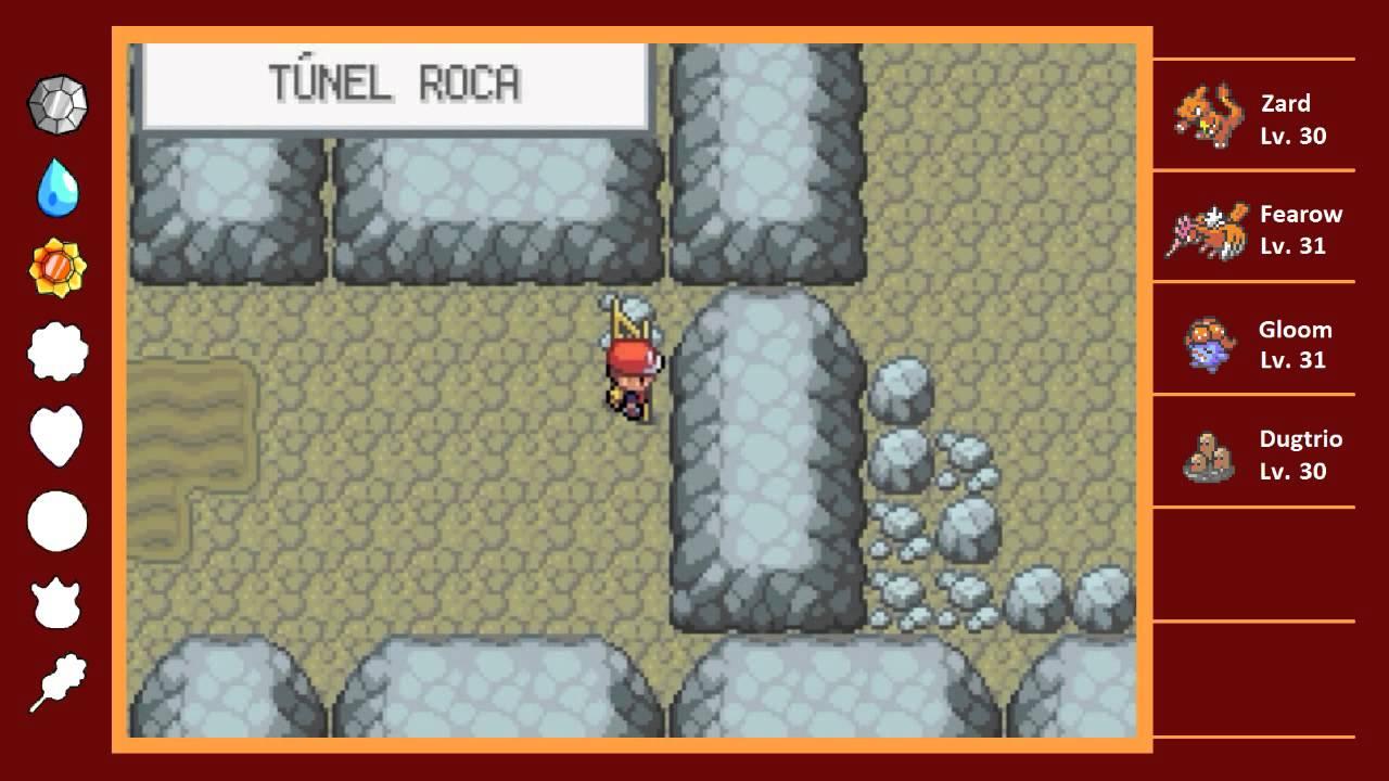 Gu a de pokemon rojo fuego parte 8 cueva oscura for Gimnasio 8 pokemon rojo fuego
