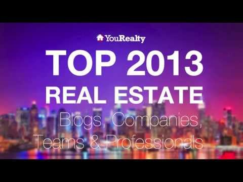 Top 2013 Real Estate Blogs, Companies, Teams and Professionals Infographic Video