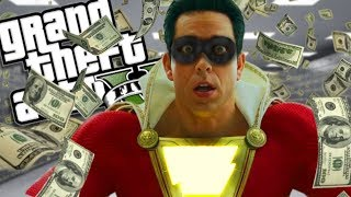 THE NEW SHAZAM ROBBING A BANK MOD (GTA 5 PC Mods Gameplay)
