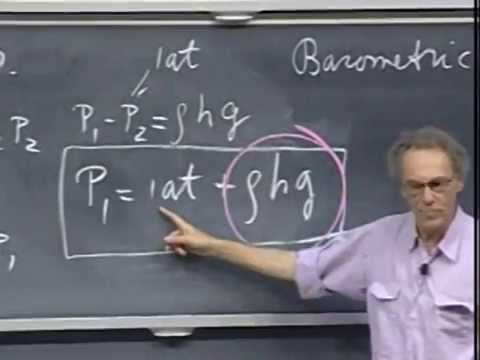 Lec 27: Gases and Incompressible Liquids | 8.01 Classical Me