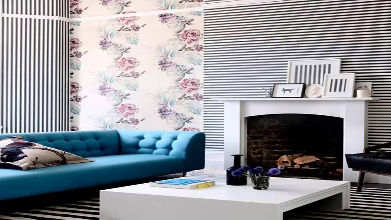 Wallpaper For Living Room 3d ورق حائط لغرف الاستقبال Youtube