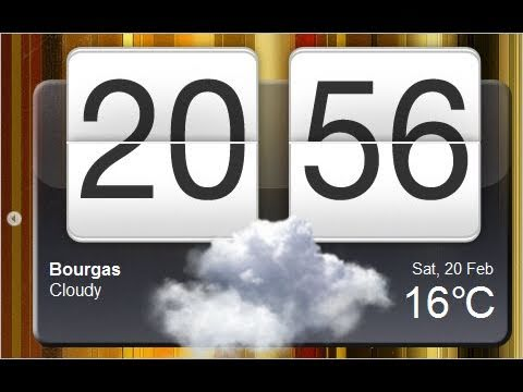 Weather & Clock Widget For All Android Devices