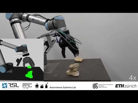 Autonomous Robotic Stone Stacking with Online next Best Object Target Pose Planning