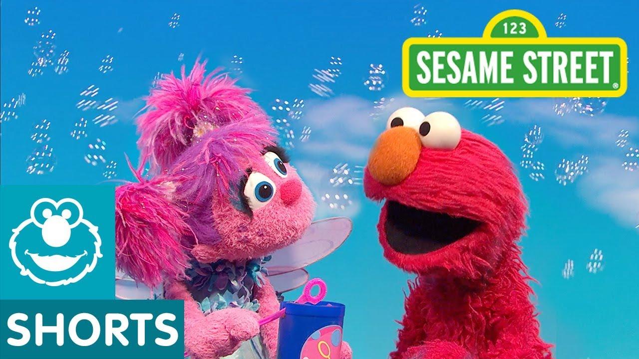 b54ebaac5a Sesame Street: Elmo Teaches Abby How to Blow Bubbles - YouTube
