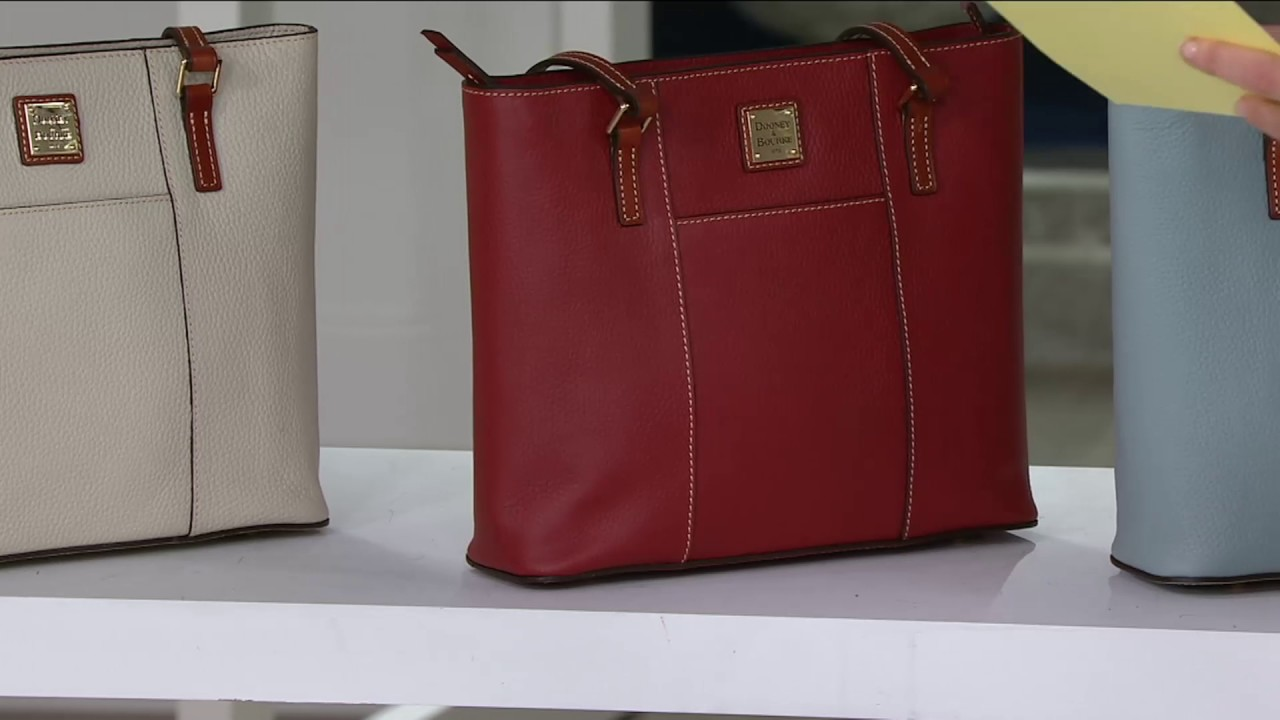 85c4ff7a1bc Dooney & Bourke Pebble Leather Small Lexington Shopper on QVC - YouTube
