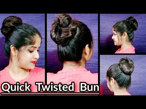 quick-and-easy-twisted-bun-||-everyday-hairstyles-for-school-/-college-/-work-||-bun-||-jayeeta-||