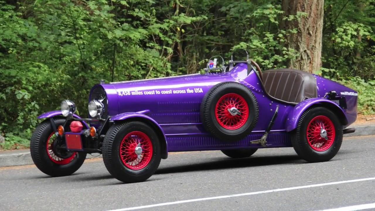 1927 Bugatti Type 35 Replicar. Charvet Classic Cars - YouTube