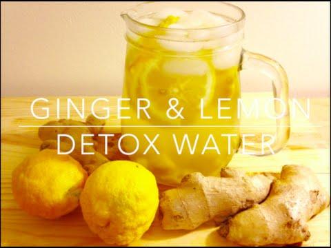 Ginger & Lemon DETOX Water - WEIGHT LOSS - DulceKaramelo03