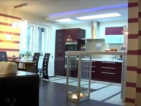 Стильный дизайн барной стойки на кухне.