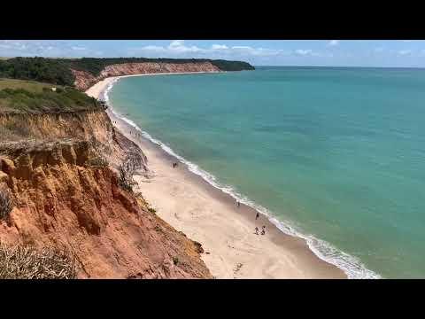 Praia do Carro Quebrado Vista do Mirante das Falésias Litoral Norte Alagoas