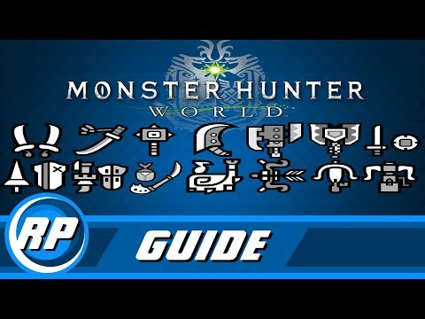 Monster Hunter World - Master Weapon Progression Guide (Recommended Playing)
