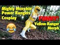 Yellow Ranger Morph (Funny!) | Mighty Morphin' Power Rangers Cosplay