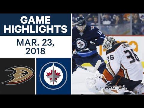 NHL Game Highlights   Ducks vs. Jets - Mar. 23, 2018