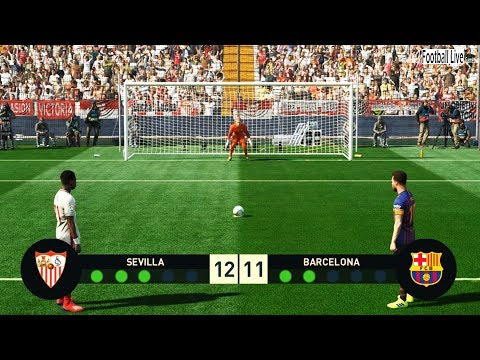 PES 2019 | Sevilla vs Barcelona | Penalty Shootout | Gameplay PC