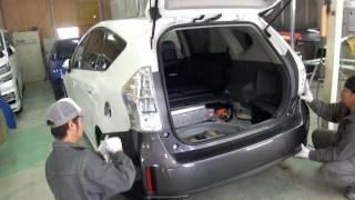 【その1】東京都 国立市 トヨタ プリウスαの板金・塗装・修理作業です。【板金塗装なら東京立川市のガレージローライド】 thumbnail