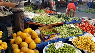Market day in Alanya /  Bazaar  2017