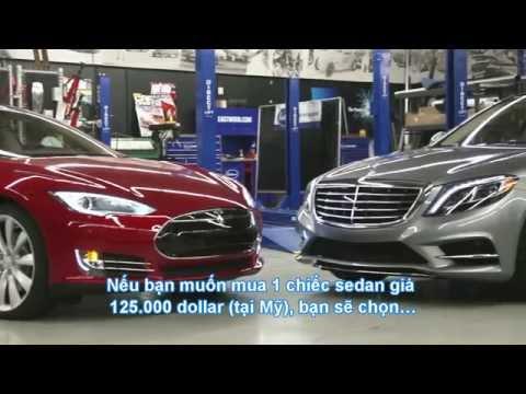 Ông vua S-class & kẻ thách thức Tesla Model S [HD-phụ đề Việt]