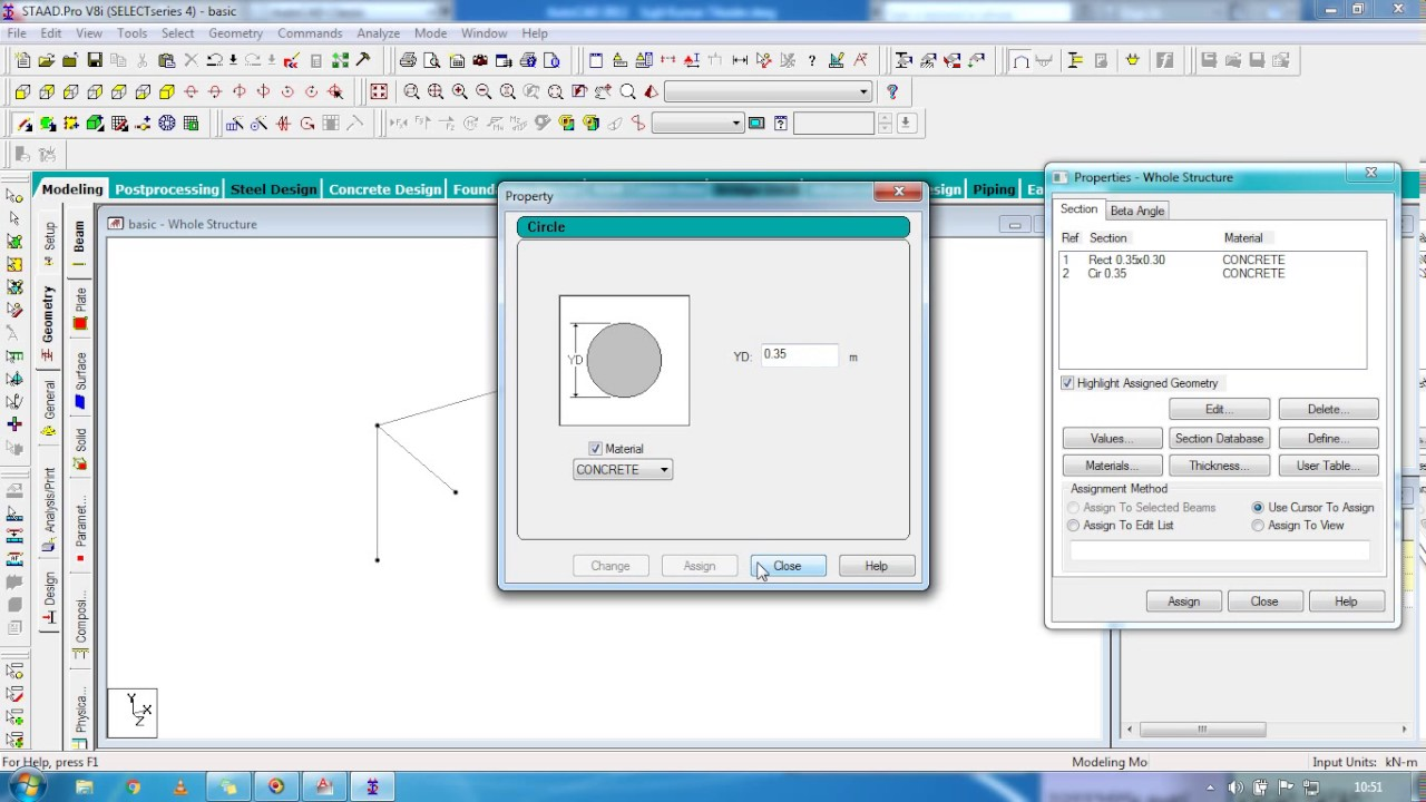 STAAD Pro Basic Tutorial for Beginners ( Day 1 ) ( Civil Engineering )