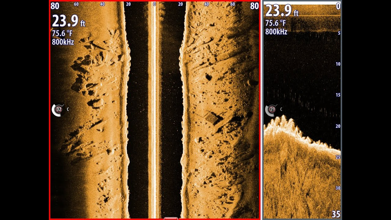 How to see fish on structure scan proper side scan for Side imaging fish finder