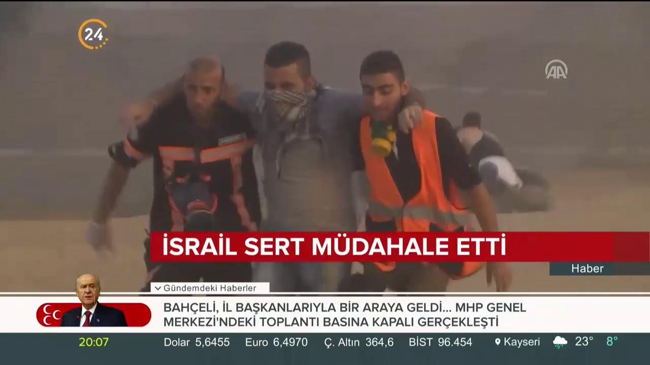 İsrail, Gazze'de Büyük Dönüş Yürüyüşü'ne müdahale etti