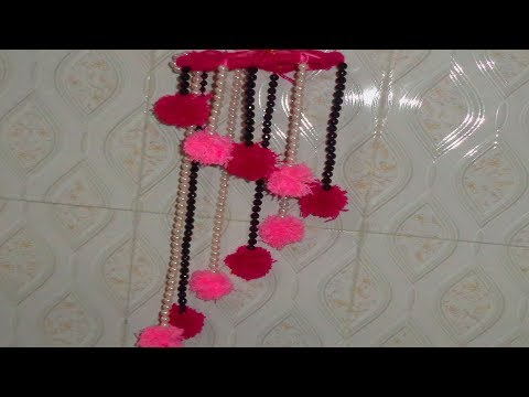 DIY Woolen Jhumar // Awesome Ceiling Hanging idea // Wool Wind Chime // craft idea out of wool //