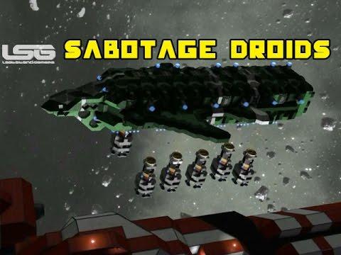 Space Engineers - Magnetic Grinding Torpedos, Sabotage Droids