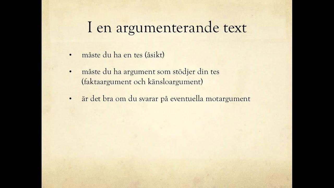 argumenterande text mall