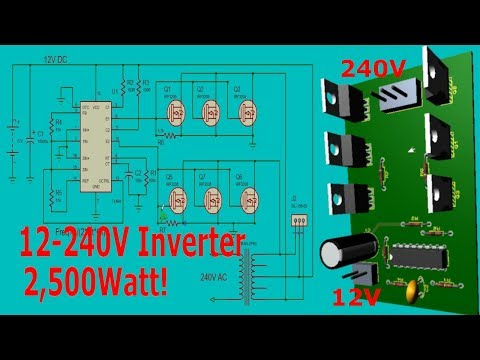 Make a 2,500Watt Inverter (12 - 220V AC) for Easy with TL494 and