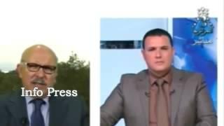 صحافي لبناني يحرج ويصعق مذيع جزائري على الهواء شاهد