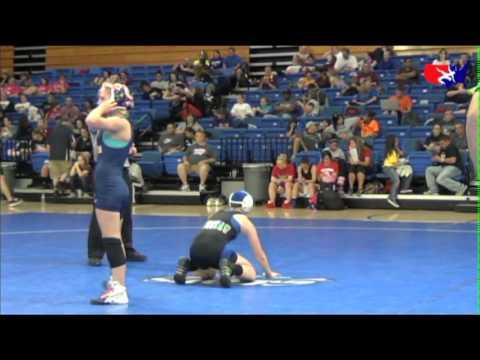 Girls Junior 125 - 1st - Becka Leathers (Ironman) vs. Skylar Grote ...