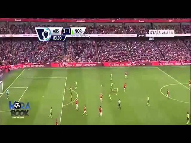 Arsenal Vs Norwich City 4 1 2013 Goals   Highlights 19 10 2013 HD   YouTube