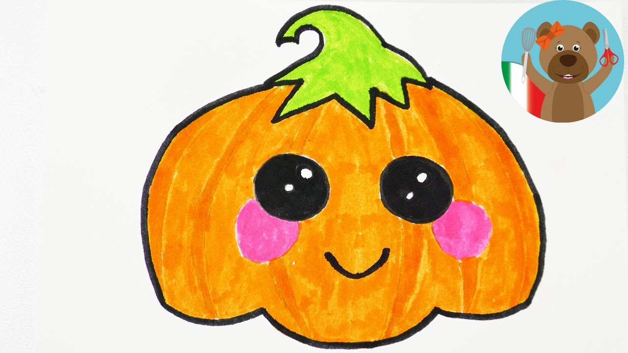 Disegnare Una Splendida Zucca Di Halloween In Stile Kawaii Youtube