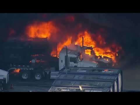 Chopper video shows large diesel fire at Weld Co. oil and gas site