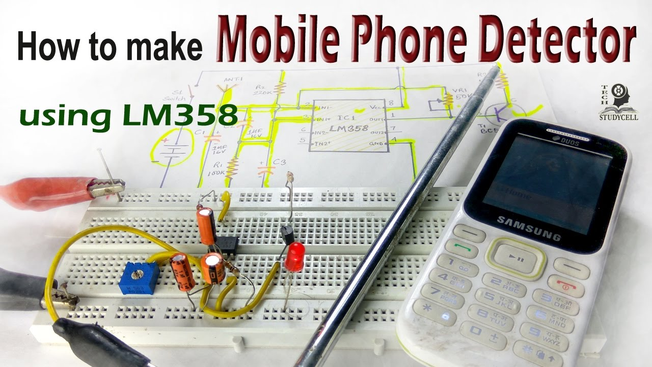 How to make Mobile Phone Detector using LM358 / electronics project
