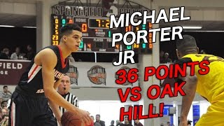 michael porter jr 36 points vs oak hill espn highlights nathan hale raiders